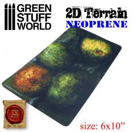 Terrain Neoprene 2D - Forêt avec 4 arbres