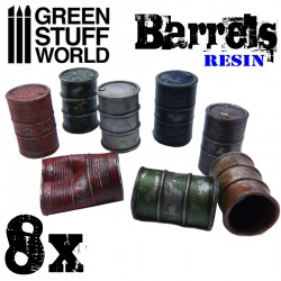 6x Barriles en Resina