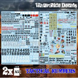 Wasserschiebe Abziehbilder - Taktische Ziffern und Pinups