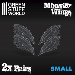 2x Monsterflügeln aus Harz - Klein
