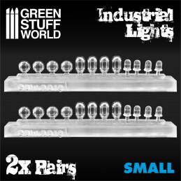 24x Industrielle Leuchten aus Harz - Klein