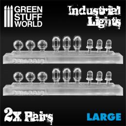 18x Lumières Industrielles en Résine - Grand