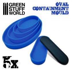 5x Containment Moulds for Bases - Oval