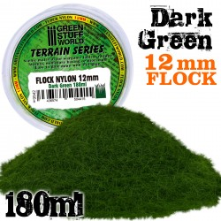Cesped Electrostatico 12mm - VERDE OSCURO - 180 ml