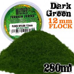 Elektrostatisches Gras 12mm - DunkelGrün - 280ml