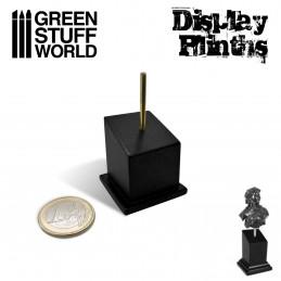 Tapered Bust Plinth 2.5x2.5cm Black