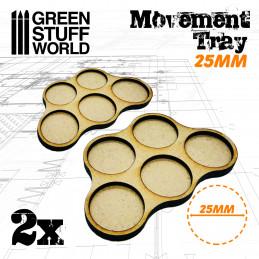 Plateaux de Mouvement MDF 25mm x5 - Horde