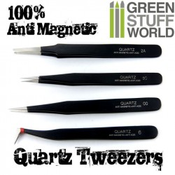 100% Anti-magnetic QUARTZ Tweezers SET