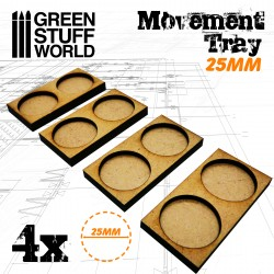 MDF Movement Trays 2 x 25mm