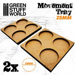 Bandejas de Movimiento DM 25mm 2x2 - Hostigador Filas