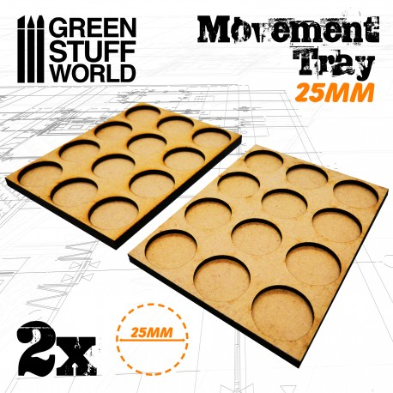 MDF Movement Trays 12 x 25mm
