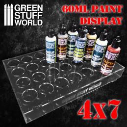 Présentoir de Peintures Auxiliaires 60ml (4x7)