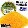 Static Grass Flock 3 mm - Canary Yellow - 180 ml