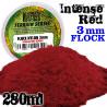 Elektrostatisches Gras 3 mm - Intensiv Rot - 280ml