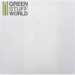 Plancha Plasticard CORRUGADO FINO 0.5mm ancho - tamaño A4