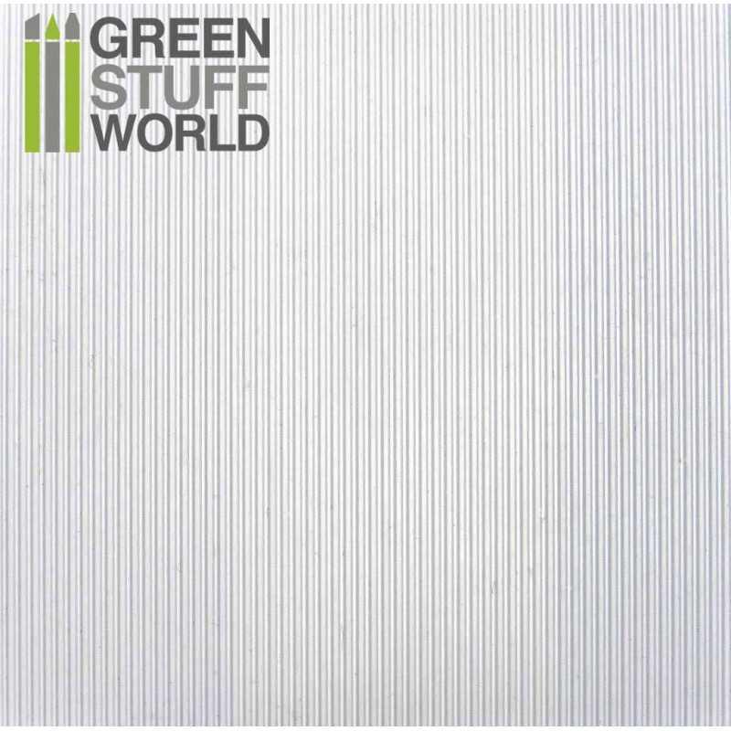 Plancha Plasticard Texturizado CORRUGADO FINO 0.5mm ancho - tamaño A4
