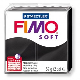 Fimo Soft 57gr - Noir