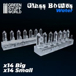 Botellas de agua de resina