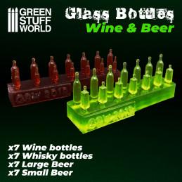 Bouteilles de Bière et de Vin en résine