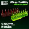 Wine and Beer Bottles Resin Set