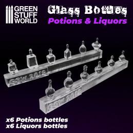 Bouteilles de Potions et Liqueurs en résine