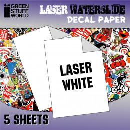 Calcas al agua - Laser Blanco