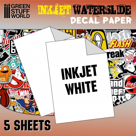 Waterslide Decals - Inkjet White
