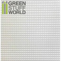 Texturierte KLEINE QUADRATEN Plastikcardplatten