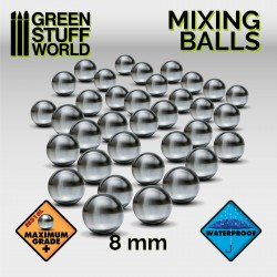 Mixing Paint Steel Bearing Balls in 8mm