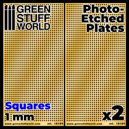 Photo-etched Plates - Medium Squares