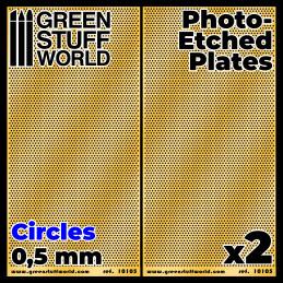 Placas Fotograbados - Circulos Pequeños