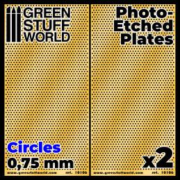 Plaques de Photogravées - Petits Cercles