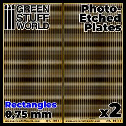 Plaques de Photogravées - Rectangles Moyens