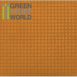 Plancha Plasticard Texturizado CUADRADOS MEDIANOS - tamaño A4