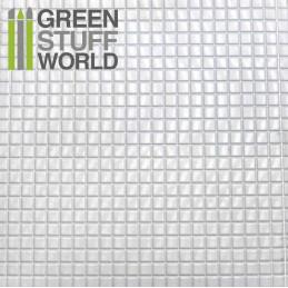 ABS Plasticard - MEDIUM SQUARES Textured Sheet - A4