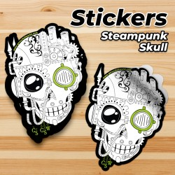 GSW Skull Sticker