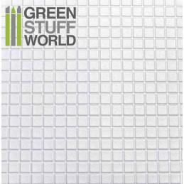 Plancha Plasticard Texturizado CUADRADOS GRANDES - tamaño A4