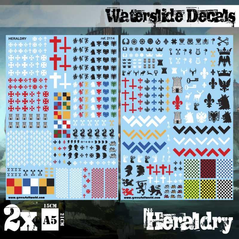 Waterslide Decals - Heraldry