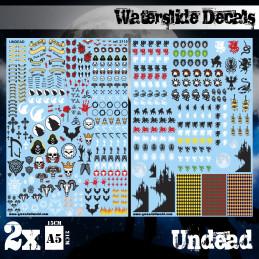 Wasserschiebe Abziehbilder - Untote