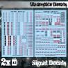 Wasserschiebe Abziehbilder - Robotersignale