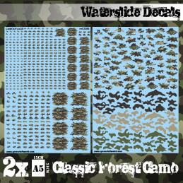 Wasserschiebe Abziehbilder - Klassische Waldtarnfarbe
