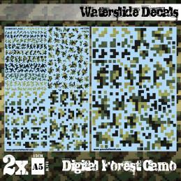 Wasserschiebe Abziehbilder - Digital Waldtarnfarbe