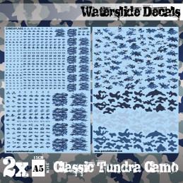 Decalcomanies a l'eau - Camouflage Tundra Classique