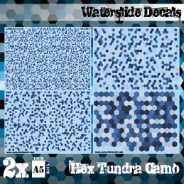 Wasserschiebe Abziehbilder - Hex Tundra-Tarnung