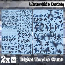 Wasserschiebe Abziehbilder - Digital Tundra-Tarnung