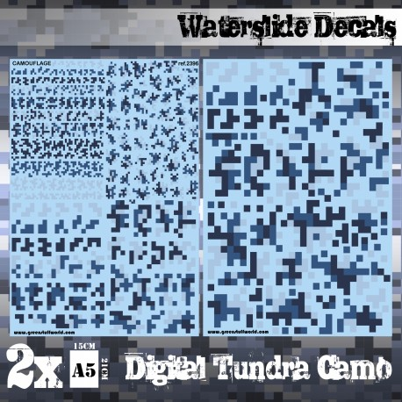 Decalcomanies a l'eau - Camouflage Tundra Digital
