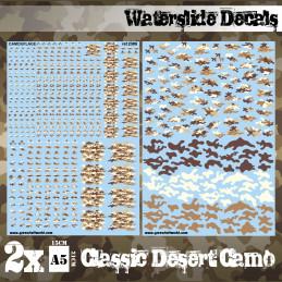Decalcomanies a l'eau - Camouflage Désert Classique
