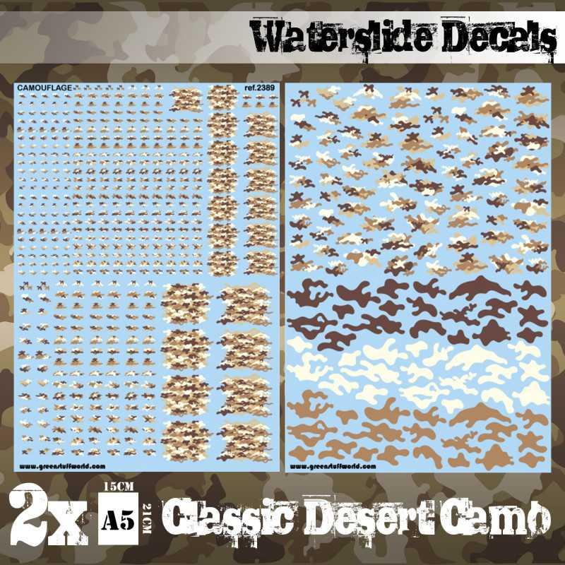 Waterslide Decals - Digital Tundra Camo