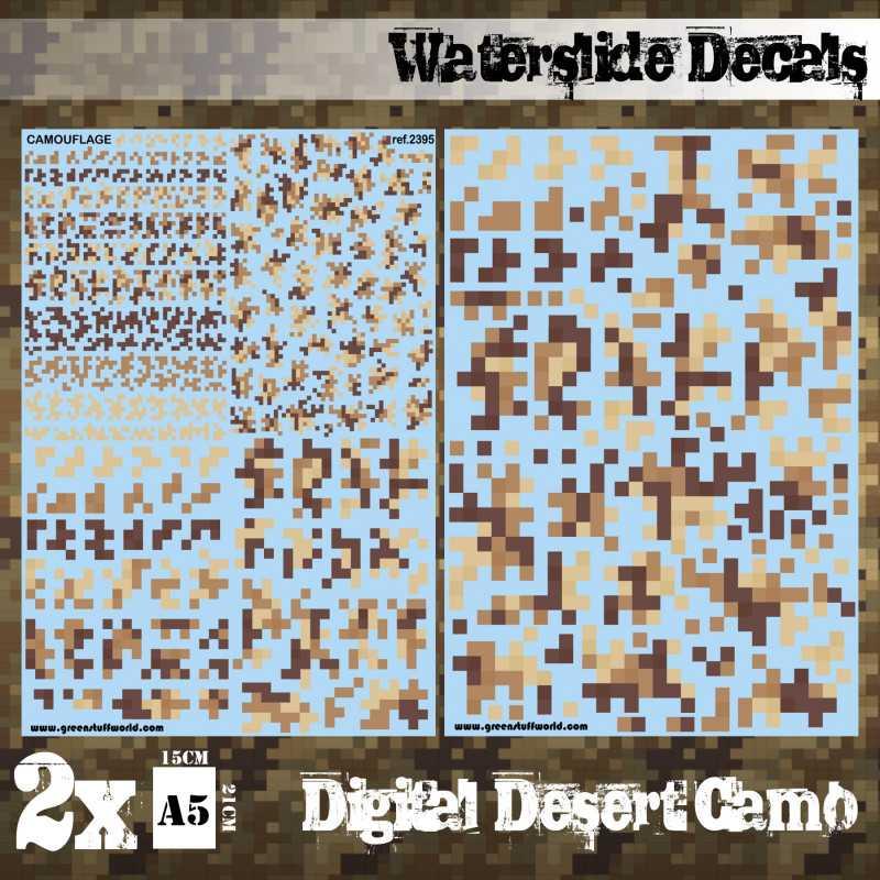 Waterslide Decals - Digital Desert Camo