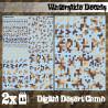 Decalcomanies a l'eau - Camouflage Désert Digital